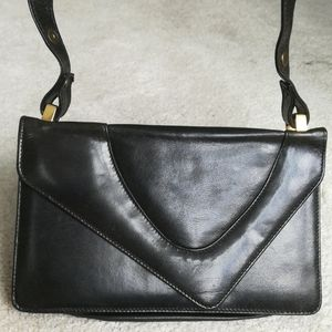 Real leather vintage convertible bag